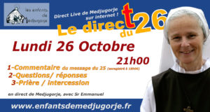 Message Octobre de Medjugorje